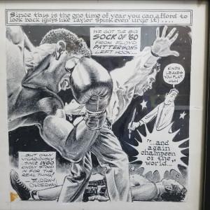 Floyd Patterson fight by Murray Olderman