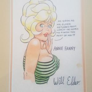 Annie Fanny watercolor by Will Elder