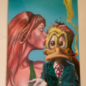 Howard the Duck Magazine #2 cover by Val Mayerik