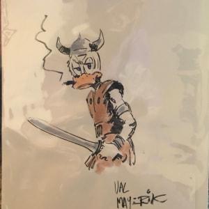 Howard the Barbarian by Val Mayerik