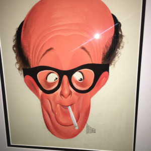 Phil Silvers - TV Guide cover painting  (1957) by Al Hirschfeld