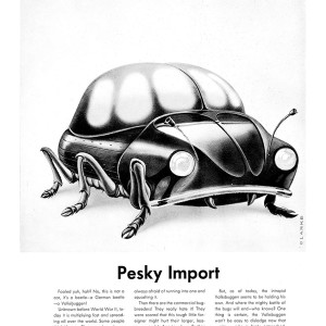 Pesky Import - inside front cover Mad #75 (1962) by Bob Clarke