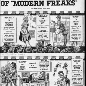 The Mad Side Show of Modern Freaks - Mad #59 (1960) by Dave Berg
