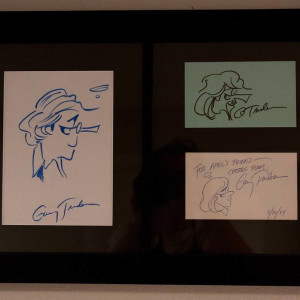 Zonker, Mike, and Joanie sketches by Garry  Trudeau