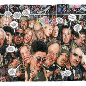 The Party - Rolling Stone (1999) by Drew Friedman