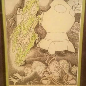 """Playboy cartoon - """"One Small Step for a Znargh..."""" by Gahan Wilson"""