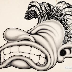 Airbrush portrait (1950's) by Basil Wolverton