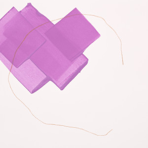 Purple Fall by Mel Reese