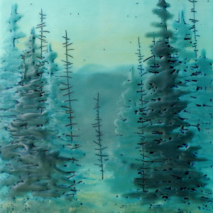 Wilson quiet forest  45 encaustic   oil 8x10 xeykd0