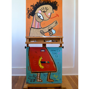 Girl With Unruly Hair (diptych)