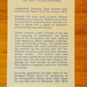 Hutt River Province 1970