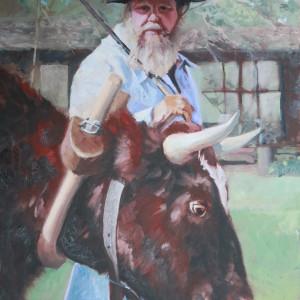 Williamsburg Ox Cart Man