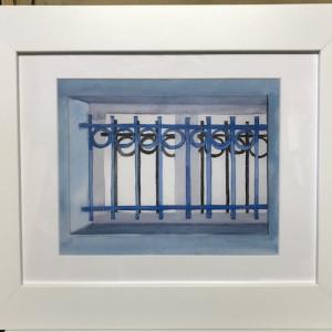 Window Grill: Barbatre, France; Universal Wrought Iron Pattern